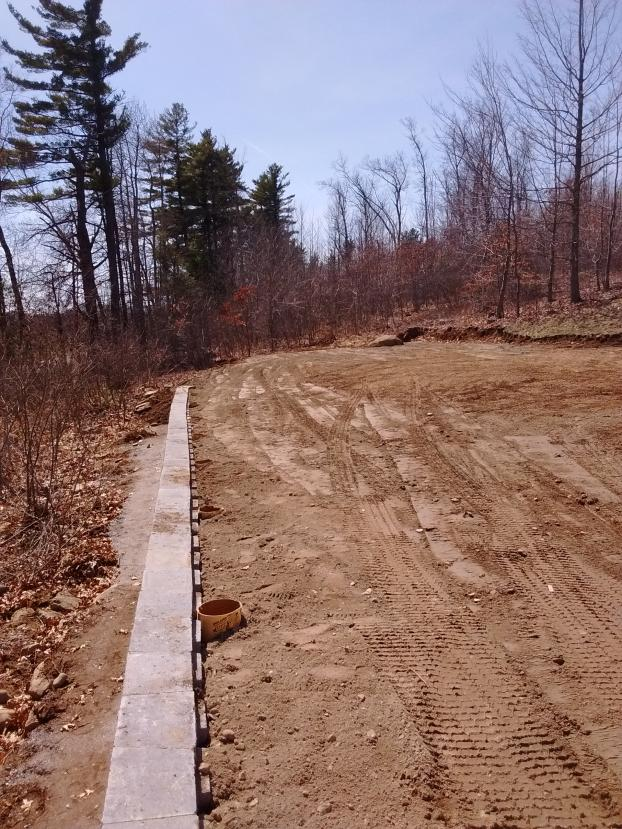 Cut and Regraded Entire Yard in Londonderry, NH