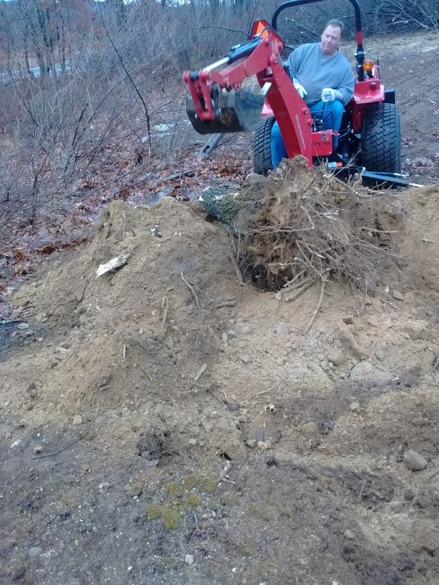 Start of 90 foot wall in Londonderry, NH