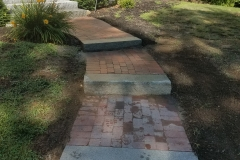 Rebuilt Walkway Using Existing Bricks - After