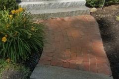 Rebuilt Walkway Using Existing Bricks - After