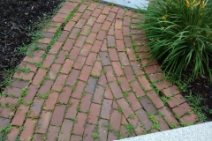 Rebuilt Walkway Using Existing Bricks - Before