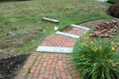Rebuilt Walkway Using Existing Bricks - Before