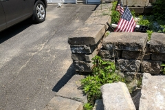 New Stone Walkway and Wall - Before