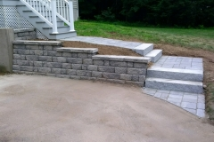 New Stone Walkway and Wall - After