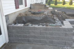 Wood retaining wall replacement